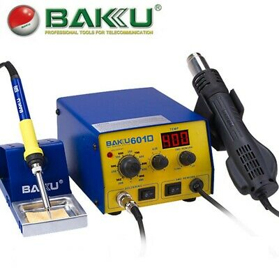 BAKU BK-601D SMD Brushless Heat Gun Soldering Iron Station with Stand 700W