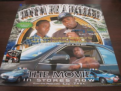 """WANNA BE A BALLER - The Movie Lil Troy 12' X12"""" Poster Flat Houston Texas"""
