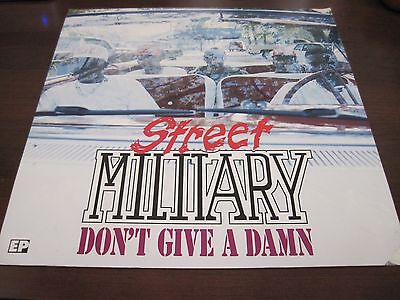 """STREET MILITARY """"Don't Give A Damn"""" 12' X12"""" Poster Flat Houston Texas"""