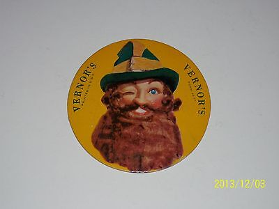 "VERNOR'S Ginger Ale 1948 GNOME COASTER Sign Nr Mint Cardboard 4"" Die Cut VERNORS"