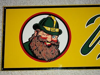 1955 VERNOR'S Steel Sign KICKPLATE NOS UNUSED Soda Fountain GNOME Day One Gloss!