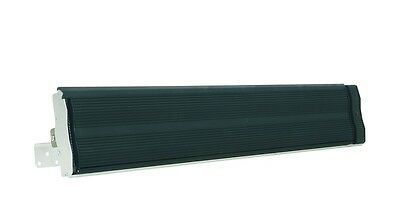 Black Electric Strip Heater - Wall or Ceiling mounted 2400 watts