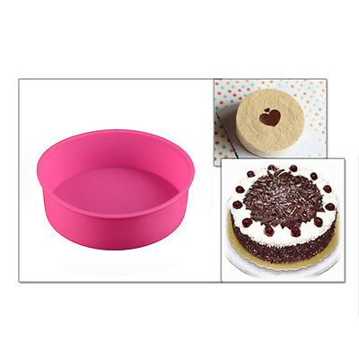 1 Piece Home and Garden Accessory Round Silicone Cake Mold Baking Tray Bowl