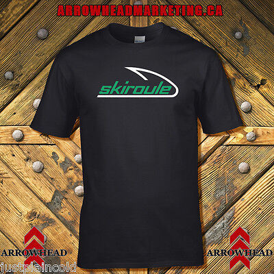 Skiroule vintage snowmobile style t-shirt Black with classic look