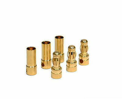 10pcs Gold Plated Bullet Connectors Banana Plugs Male/Female 2mm/3mm/3.5mm/4mm