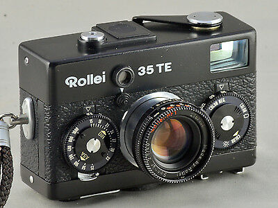 Vintage Rollei 35TE 35mm Black Body Camera but w/ Sonnar 2.8 40mm Lens, rare