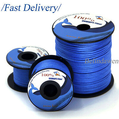 750lb 100% UHMWPE Braided Line Cord 1.6mm Tents Guy Line Paracord 50ft~500ft