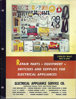 1962 Electrical Appliance Service Co. Catalog 48 Pages