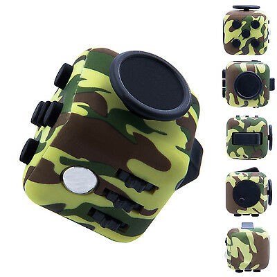 6-Side Fidget Toy Stress Anxiety Relief Attention Focus Cube Adult Kids Gift