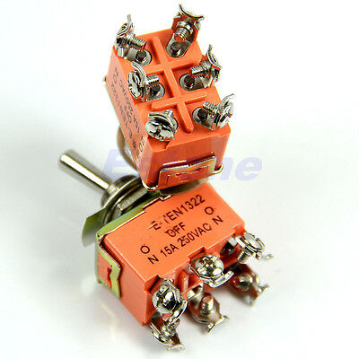 Mini Switches 6 Pin Toggle DPDT ON-OFF-ON Switch 15A 250V Mini Switches Hot