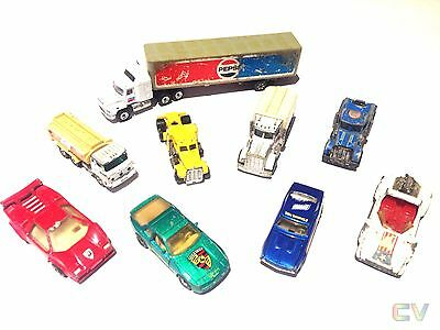 Matchbox Cars Vehicles Tomica Truck Peterbilt Hot Wheels X9 Bundle