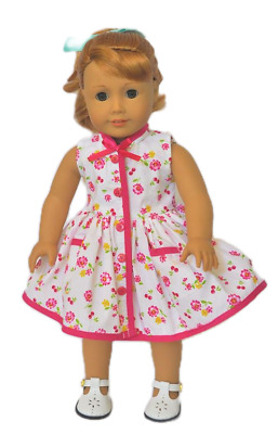 Doll Clothes 18 Dress Pink Yellow Floral Fits American Girl Doll Mary Ellen 1954