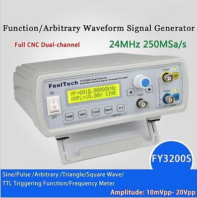 FY3224S UK 24MHz Dual-Channel Arbitrary Waveform DDS Function Signal Generator