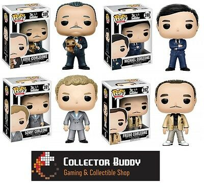 Funko Pop! All Four Movies 389-392 The Godfather Vito Michael Sonny Corleone Pop
