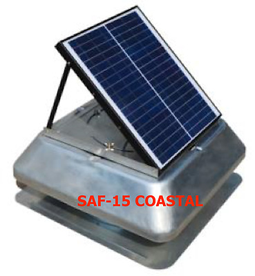 Solar PV Powered Attic Fan / Exhaust Roof Ventilator (SOLAVENT DELUXE) COASTAL