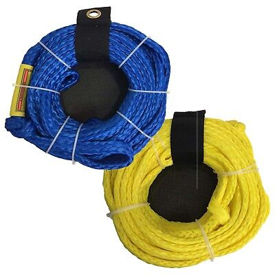Riders Inc 3-4 Person Water Ski Biscuit Tow Tube Rope YELLOW or BLUE