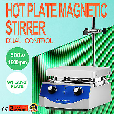 SH-3 Hot Plate Magnetic Stirrer Mixer Stirring 1600rpm 3000ml W/Heating Plate