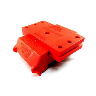RED Anderson Plug Cover 50 Amp External Mounting Bracket Cover w/ LED Indicator