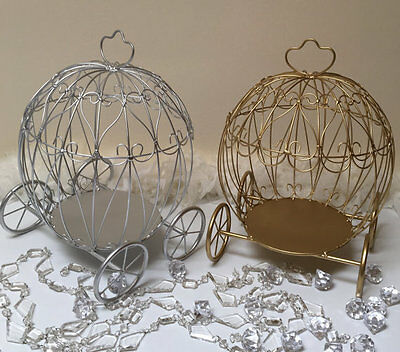Cinderella Metal Carriage for Flower Centerpieces, Great Home Decor