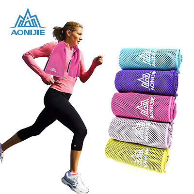 Instant Cooling Ice Cold Towel Sports Gym Drying Sweat Absorb Dry Jogging Yoga