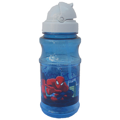 Borraccia Spiderman Marvel Con Cannuccia Con Tappo - 6804270