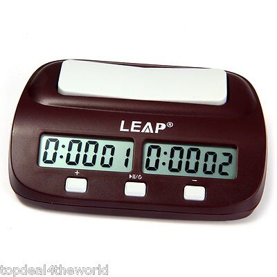 PQ9907S Digital Chess Clock I-go Count Up Down Timer for Game Competition LEAP