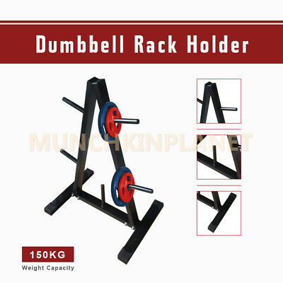 Gym Exercise Training Weight Plates Storage Dumbbell Rack A-Frame Holder