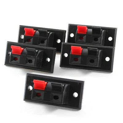 2 Positions Connector Terminal Push in Jack Spring Load Audio Speaker Terminals