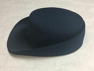 USAF 1996 Blue Kingform Cap DeLuxe New York Womens Enlisted Size 22 Military Hat