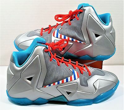 ece3d2e4da2ac Nike Lebron 11 XI GS Barbershop Fruity Pebble South Beach Sz 7Y NEW 621712  009