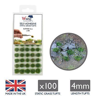 WWS Summer Grass 4mm Self Adhesive Static Grass x 100 Tufts SUM004