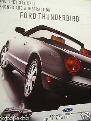 "2004 Ford Ad-Ford Thunderbird-8.5 x 10.5 ""-Distraction-Original Print Ad"
