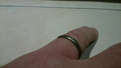 Viking Lovely wearable Silver Ring, rare Ancient artifact 1.80g