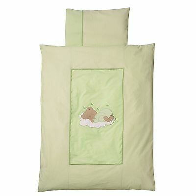 Easy-Baby Bettwäsche 100x135 / 40x60 cm  Sleeping bear grün 410-84 TOP