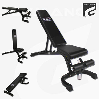 Gymano™ Super 7000™ Fid Flat, Incline & Decline Adjustable Dumbbell Weight Bench