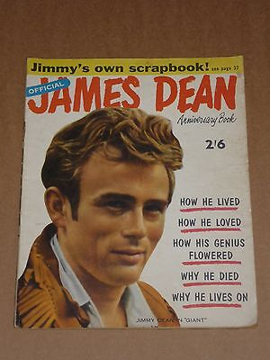 James Dean Official Anniversary Book 1956 US Dell Photo Magazine