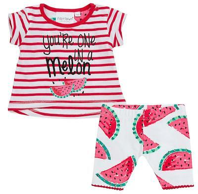 Girls T-Shirt Shorts One Watermelon Stripe Outfit Set Newborn Baby to 24 Months