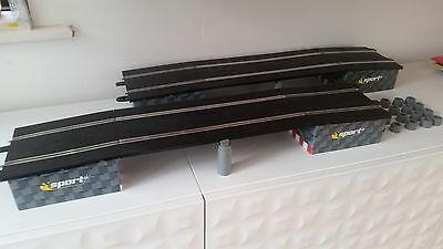 Scalextric Sport & Digital Track X 2 BRIDGE/  FLYOVER  KIT  AND RISERS  *