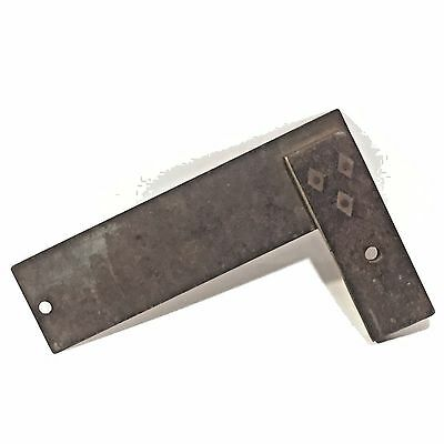 Antique Vtg Wood Wooden Handle w Brass Inlay Carpenters Set SQUARE Tool Small