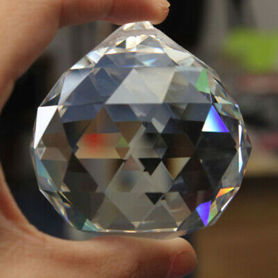 60mm Chandelier Clear Glass Crystal Round Faceted Ball Lamp Prism Drop Pendant