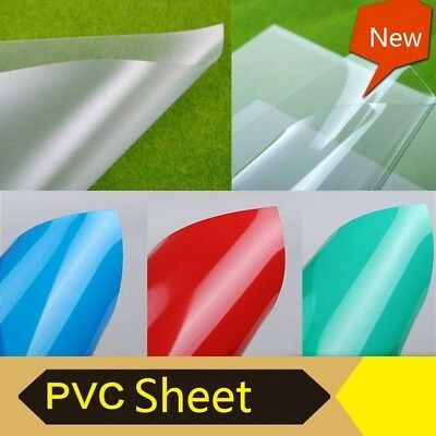 Colorful PVC Matte Transparent Sheet Plate Plastic Film For Model DIY Hobby
