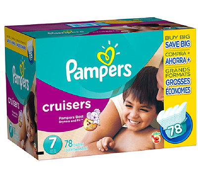 Pampers Cruisers Size 7 Diapers Economy Pack - 78 Count