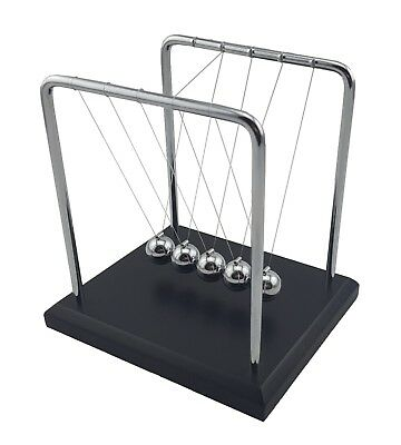 Newtons Cradle Steel Balls Pendulum Physics Science Ornament Desktop Art 18 cm