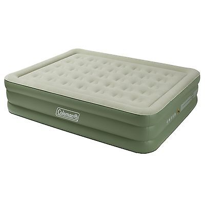 Coleman Maxi Comfort Raised King Airbed Air Bed Green 3 Layer Puncture Resistant