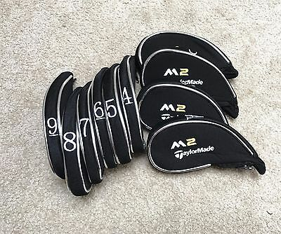 10 Pieces Black Taylormade M2 Golf Iron Head Covers Headcovers Short Zipper