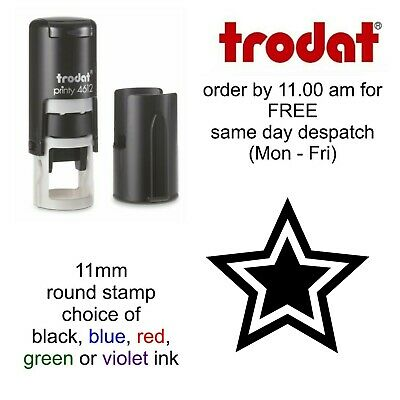 Double Star rubber Stamp Loyalty Card Reward Self Inking school shop cafe bar