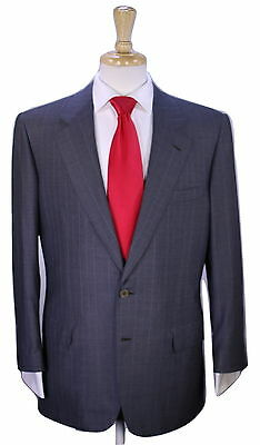* BRIONI * Recent Gray Pinstripe Super 150's Wool 2-Btn Luxury Suit 42R