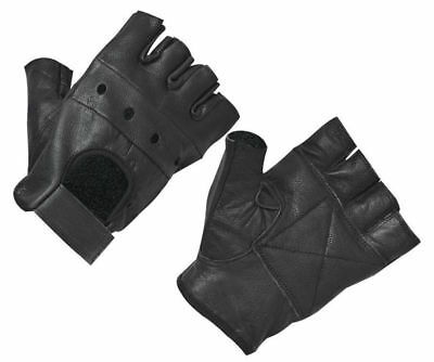 Leather Padded Gym Weight Lifting Gloves Training Driving Motorbike Cycling