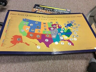 First State Quarters Of The United States Collectors Map 1999 2008