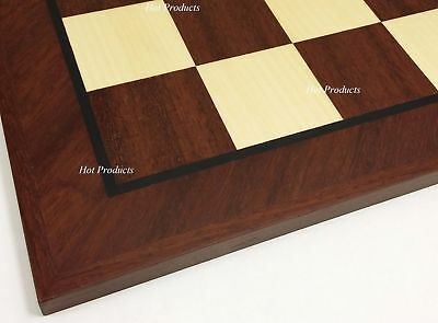 "Large 20 1/2"" BRAZILIAN CHERRY & NATURAL MAPLE Wood Chess Board 2 3/16"" Squares"